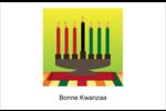 Lueur verte de Kwanzaa Cartes de souhaits pliées en deux - gabarit prédéfini. <br/>Utilisez notre logiciel Avery Design & Print Online pour personnaliser facilement la conception.
