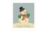 Infuse holiday charm into custom projects with pre-designed Vintage Snowman templates.