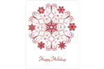 Infuse festive elegance into custom projects with pre-designed Swirl Snowflake templates.