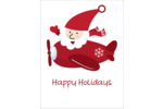 Custom projects are sure to take off with pre-designed Santa Airplane templates.