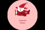 Avion du père Noël Étiquettes Voyantes - gabarit prédéfini. <br/>Utilisez notre logiciel Avery Design & Print Online pour personnaliser facilement la conception.
