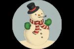 Bonhomme de neige d'époque Étiquettes Voyantes - gabarit prédéfini. <br/>Utilisez notre logiciel Avery Design & Print Online pour personnaliser facilement la conception.