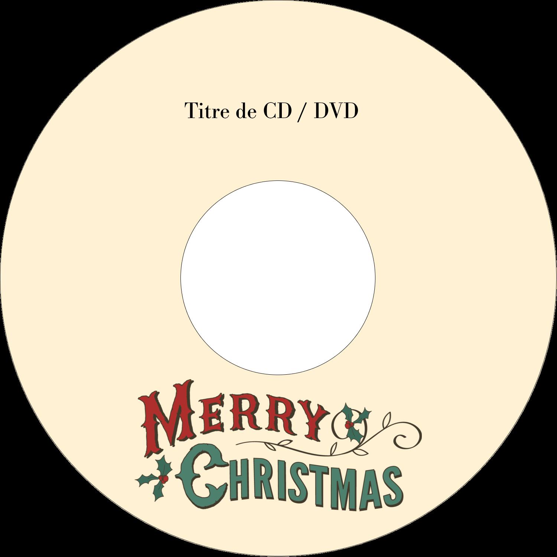 CD/DVD Étiquettes Pour Médias - Joyeux