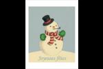 Bonhomme de neige d'époque Cartes Et Articles D'Artisanat Imprimables - gabarit prédéfini. <br/>Utilisez notre logiciel Avery Design & Print Online pour personnaliser facilement la conception.