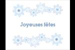 Flocons de neige bleus Cartes Et Articles D'Artisanat Imprimables - gabarit prédéfini. <br/>Utilisez notre logiciel Avery Design & Print Online pour personnaliser facilement la conception.