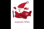 Avion du père Noël Cartes Et Articles D'Artisanat Imprimables - gabarit prédéfini. <br/>Utilisez notre logiciel Avery Design & Print Online pour personnaliser facilement la conception.