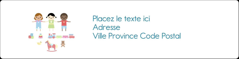 """1⅓"""" x 4"""" Étiquettes d'adresse - Éducation et préscolaire"""