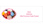 Tricot Étiquettes d'adresse - gabarit prédéfini. <br/>Utilisez notre logiciel Avery Design & Print Online pour personnaliser facilement la conception.