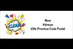 Nuage nettoyant Étiquettes d'adresse - gabarit prédéfini. <br/>Utilisez notre logiciel Avery Design & Print Online pour personnaliser facilement la conception.