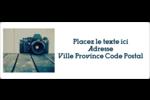 Appareil photo Étiquettes d'adresse - gabarit prédéfini. <br/>Utilisez notre logiciel Avery Design & Print Online pour personnaliser facilement la conception.