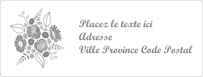 """1"""" x 4"""" Étiquettes d'adresse - Bouquet de fleurs"""