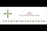 Fleurs vertes géométriques Étiquettes d'adresse - gabarit prédéfini. <br/>Utilisez notre logiciel Avery Design & Print Online pour personnaliser facilement la conception.