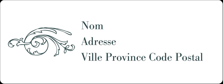 """1"""" x 4"""" Étiquettes d'adresse - Cachet français"""
