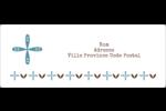 Bain bleu Étiquettes d'adresse - gabarit prédéfini. <br/>Utilisez notre logiciel Avery Design & Print Online pour personnaliser facilement la conception.