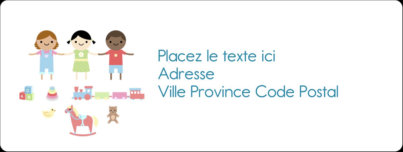 """1"""" x 4"""" Étiquettes d'adresse - Éducation et préscolaire"""