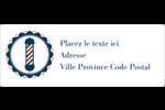 Enseigne de barbier audacieuse Étiquettes d'adresse - gabarit prédéfini. <br/>Utilisez notre logiciel Avery Design & Print Online pour personnaliser facilement la conception.