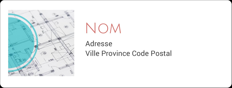 """1"""" x 4"""" Étiquettes d'adresse - Architecture"""