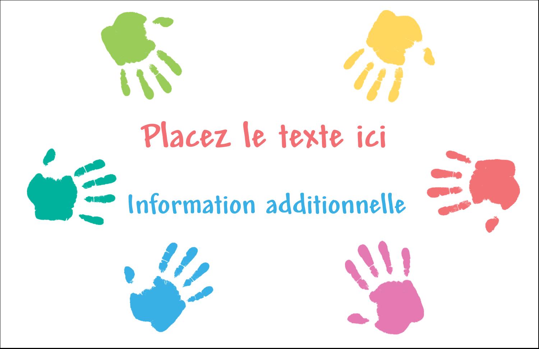 """8½"""" x 11"""" Cartes Et Articles D'Artisanat Imprimables - Mains enfantines"""