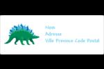 Dinosaure Étiquettes d'adresse - gabarit prédéfini. <br/>Utilisez notre logiciel Avery Design & Print Online pour personnaliser facilement la conception.