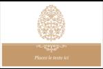 Œuf de Pâques de couleur bronze Cartes Et Articles D'Artisanat Imprimables - gabarit prédéfini. <br/>Utilisez notre logiciel Avery Design & Print Online pour personnaliser facilement la conception.