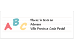 Enseignement préscolaire Étiquettes d'adresse - gabarit prédéfini. <br/>Utilisez notre logiciel Avery Design & Print Online pour personnaliser facilement la conception.