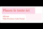 Traitement rose Étiquettes d'adresse - gabarit prédéfini. <br/>Utilisez notre logiciel Avery Design & Print Online pour personnaliser facilement la conception.