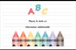 Enseignement préscolaire Cartes Et Articles D'Artisanat Imprimables - gabarit prédéfini. <br/>Utilisez notre logiciel Avery Design & Print Online pour personnaliser facilement la conception.