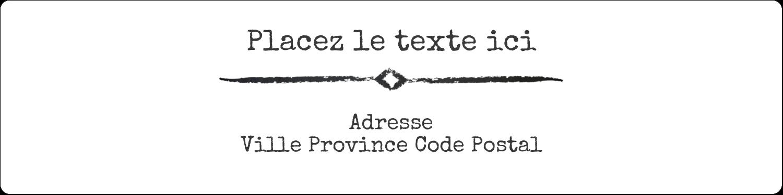 """1⅓"""" x 4"""" Étiquettes d'adresse - Diplôme et craie"""