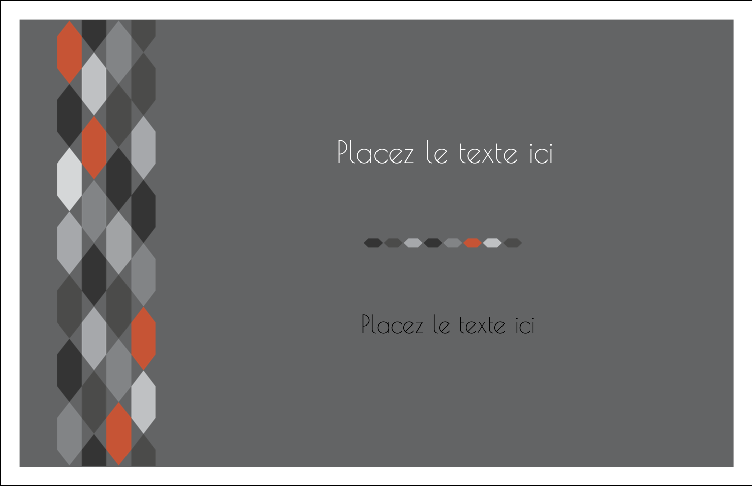 """8½"""" x 11"""" Cartes Et Articles D'Artisanat Imprimables - Hexagone orange"""