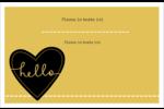 Cœur brodé hello Cartes Et Articles D'Artisanat Imprimables - gabarit prédéfini. <br/>Utilisez notre logiciel Avery Design & Print Online pour personnaliser facilement la conception.