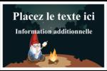 Gnome en camping Cartes Et Articles D'Artisanat Imprimables - gabarit prédéfini. <br/>Utilisez notre logiciel Avery Design & Print Online pour personnaliser facilement la conception.