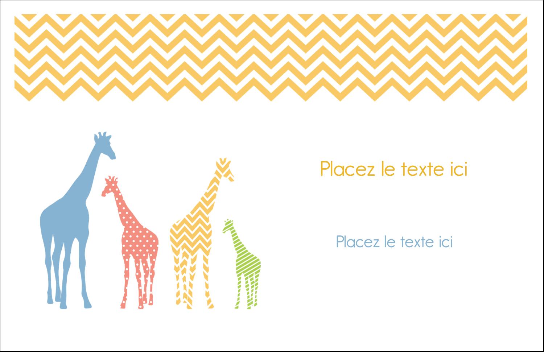 """8½"""" x 11"""" Cartes Et Articles D'Artisanat Imprimables - Girafe en fête"""