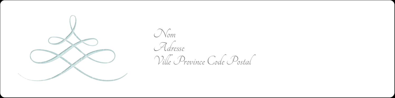 """1⅓"""" x 4"""" Étiquettes d'adresse - Typographie élégante"""