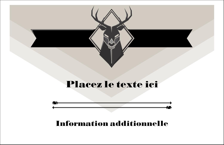 """8½"""" x 11"""" Cartes Et Articles D'Artisanat Imprimables - Chevreuils pour typographie"""