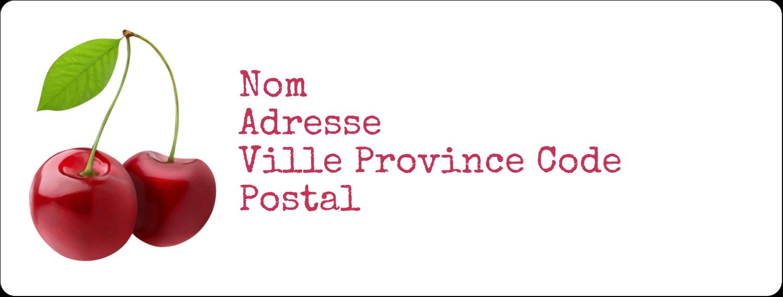 """1"""" x 4"""" Étiquettes d'adresse - Confiture"""