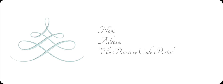 """1"""" x 4"""" Étiquettes d'adresse - Typographie élégante"""