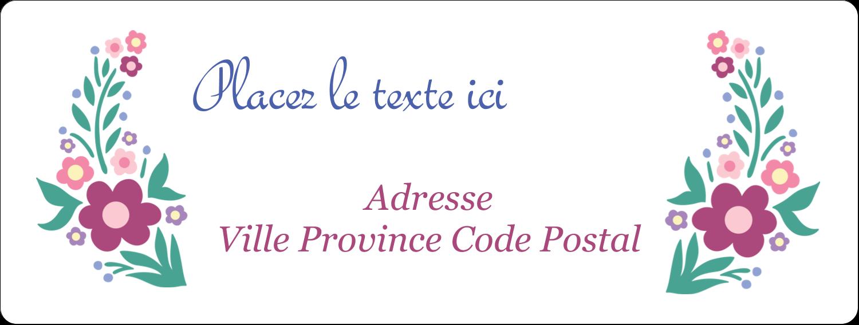 """1"""" x 4"""" Étiquettes d'adresse - Princesses"""