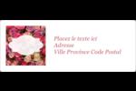 Bouquet de roses Étiquettes d'adresse - gabarit prédéfini. <br/>Utilisez notre logiciel Avery Design & Print Online pour personnaliser facilement la conception.
