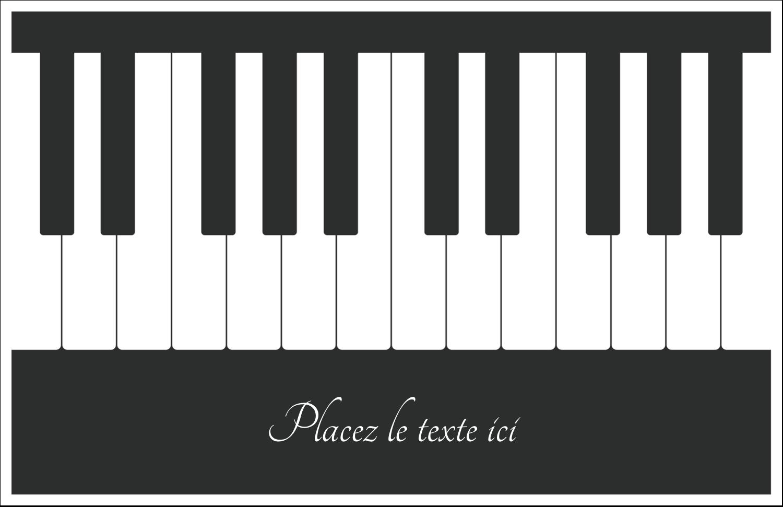"""8½"""" x 11"""" Cartes Et Articles D'Artisanat Imprimables - Clavier musical"""