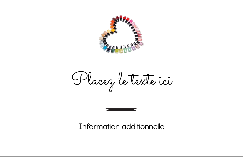 """8½"""" x 11"""" Cartes Et Articles D'Artisanat Imprimables - Vernis à ongles en cœur"""
