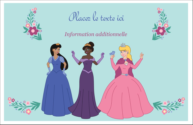 """8½"""" x 11"""" Cartes Et Articles D'Artisanat Imprimables - Princesses"""