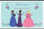 Princesses Cartes Et Articles D'Artisanat Imprimables - gabarit prédéfini. <br/>Utilisez notre logiciel Avery Design & Print Online pour personnaliser facilement la conception.