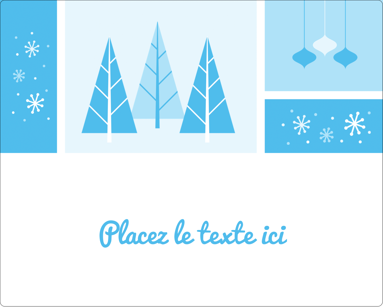 """2"""" Diameter Étiquettes rondes gaufrées - Les gabarits Pays des merveilles hivernales rétro pour votre prochain projet créatif"""