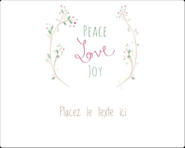 """2"""" Diameter Étiquettes rondes gaufrées - Les gabarits Paix, amour et joie pour votre prochain projet créatif des Fêtes"""