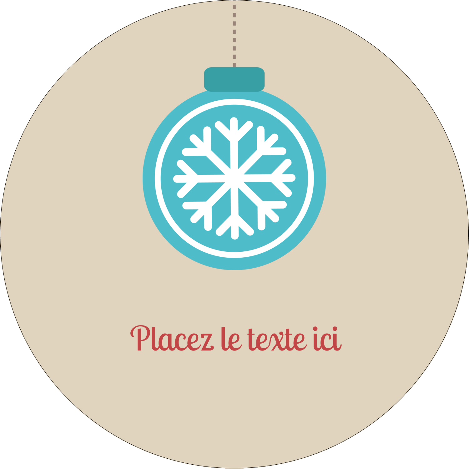 """3-7/16"""" x 15/16"""" Étiquettes de classement - Les gabarits Boules décoratives artisanales pour votre prochain projet des Fêtes"""