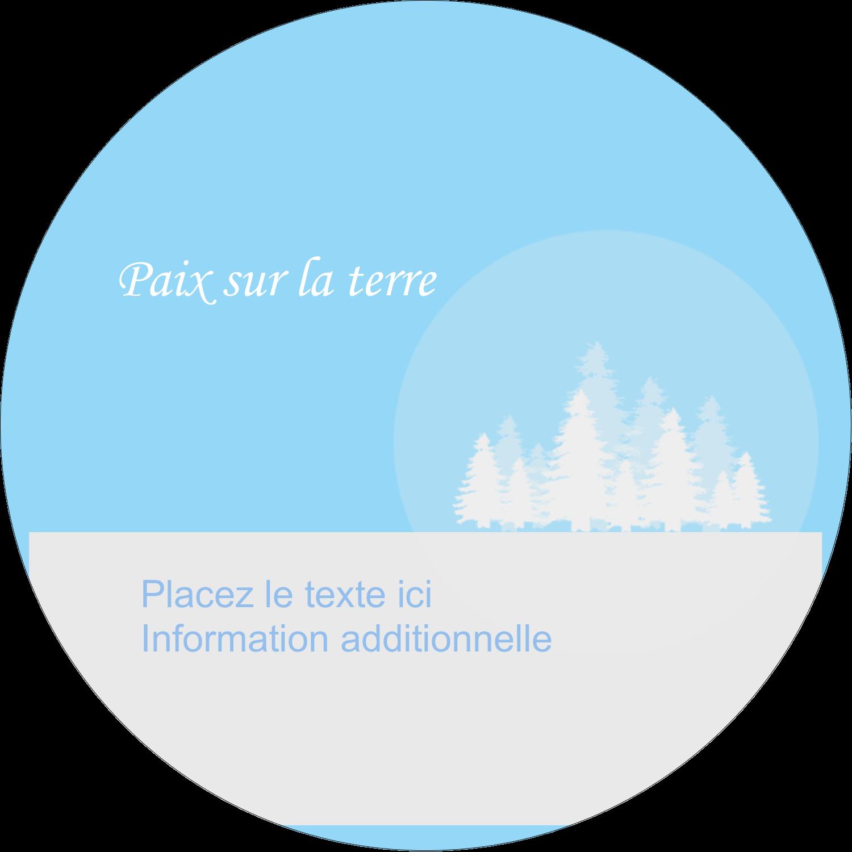 """3-7/16"""" x 15/16"""" Étiquettes de classement - Forêt bleue"""