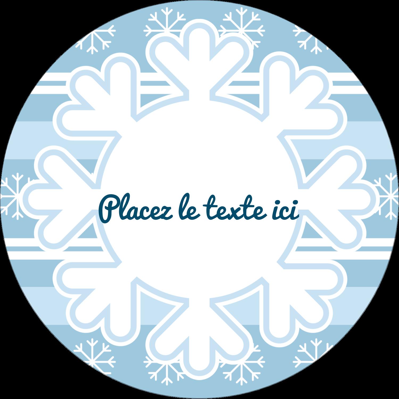 """3-7/16"""" x 15/16"""" Étiquettes de classement - Les gabarits Flocon de neige bleu pour votre prochain projet des Fêtes"""