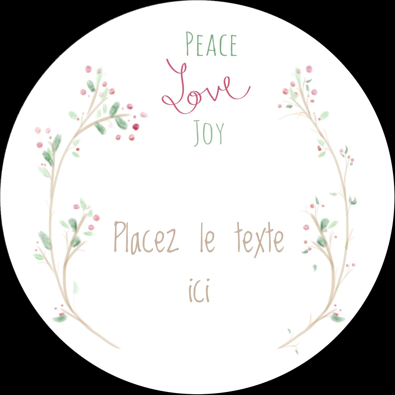 """3-7/16"""" x 15/16"""" Étiquettes de classement - Les gabarits Paix, amour et joie pour votre prochain projet créatif des Fêtes"""
