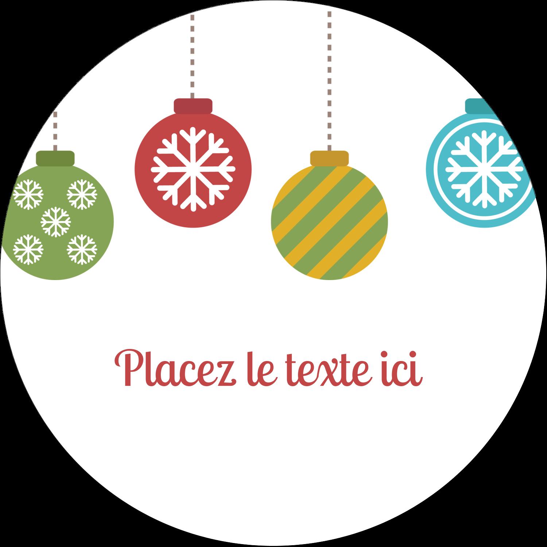 """2½"""" Diameter Étiquettes rondes - Les gabarits Boules décoratives artisanales pour votre prochain projet des Fêtes"""