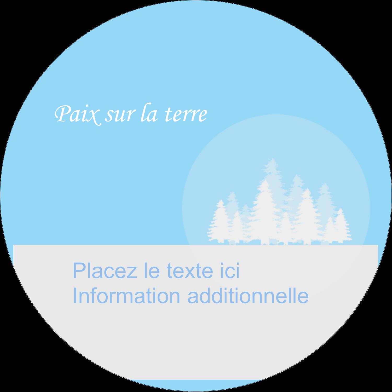 """2½"""" Diameter Étiquettes rondes - Forêt bleue"""